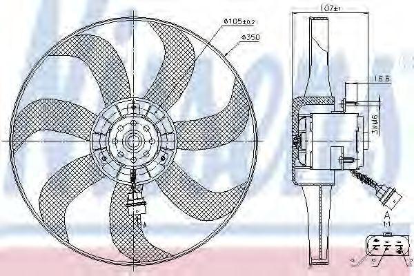Вентилятор радиатора NISSENS 85725