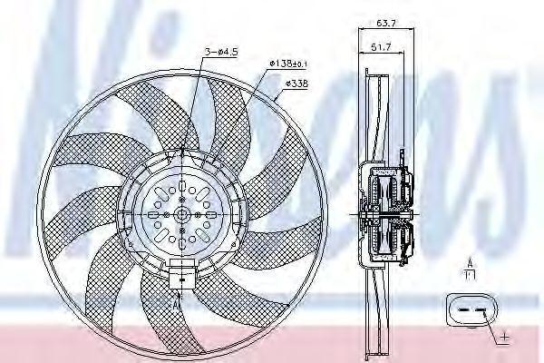 Вентилятор радиатора NISSENS 85727