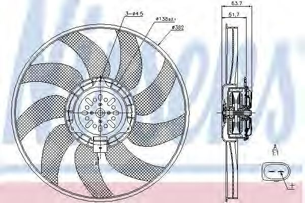 Вентилятор радиатора NISSENS 85728