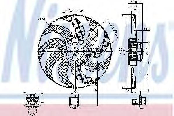 Вентилятор охлаждения NISSENS 85748