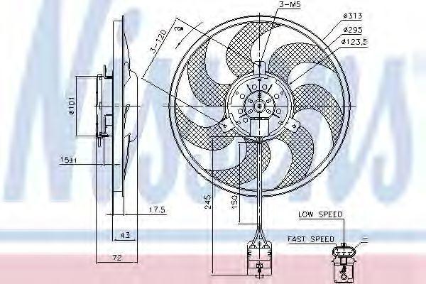 Вентилятор радиатора NISSENS 85754