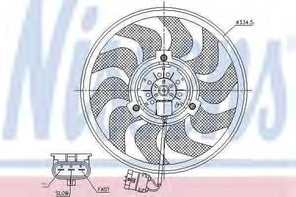 Вентилятор радиатора NISSENS 85755