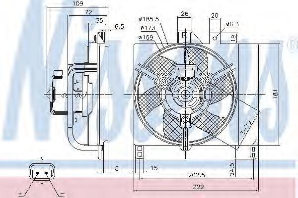Вентилятор радиатора NISSENS 85765