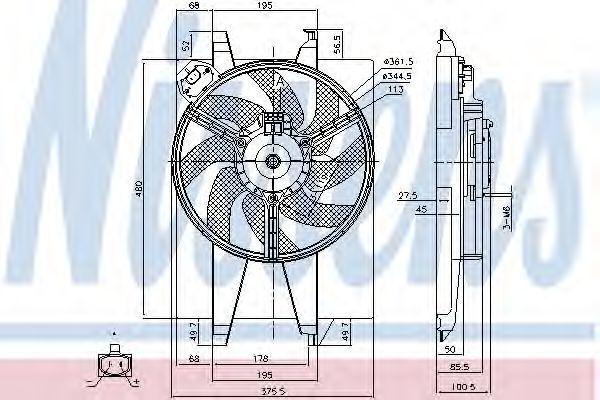 Вентилятор охлаждения двигателя NISSENS 85767