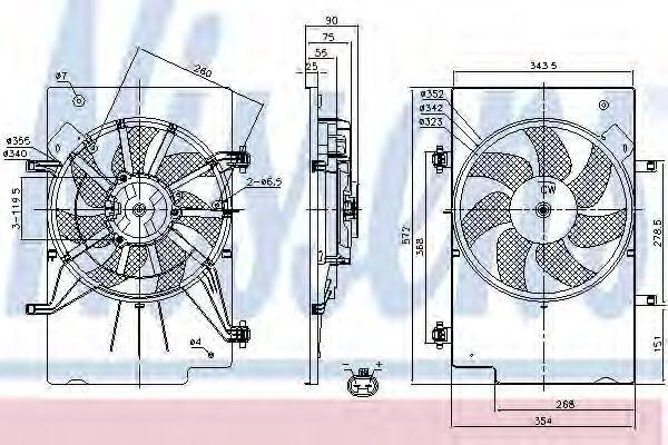 Вентилятор, охлаждение двигателя NISSENS 85768