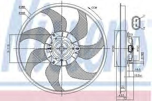 Вентилятор охлаждения двигателя NISSENS 85776