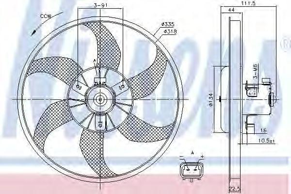 Вентилятор радиатора NISSENS 85782