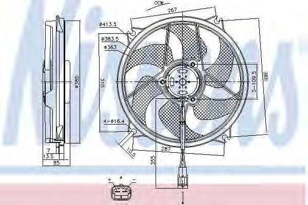 Вентилятор радиатора NISSENS 85790
