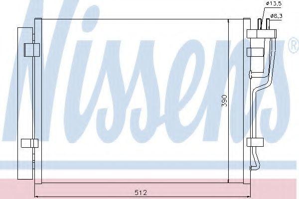 Радиатор кондиционера NISSENS 940007