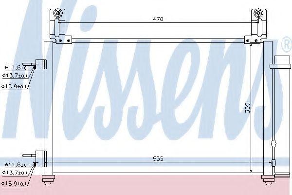 Радиатор кондиционера NISSENS 940009