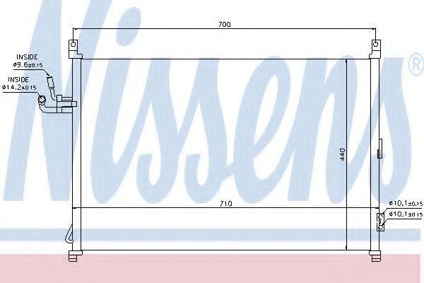 Радиатор кондиционера NISSENS 940014