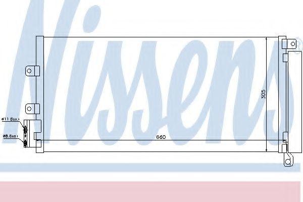 Радиатор кондиционера NISSENS 940023