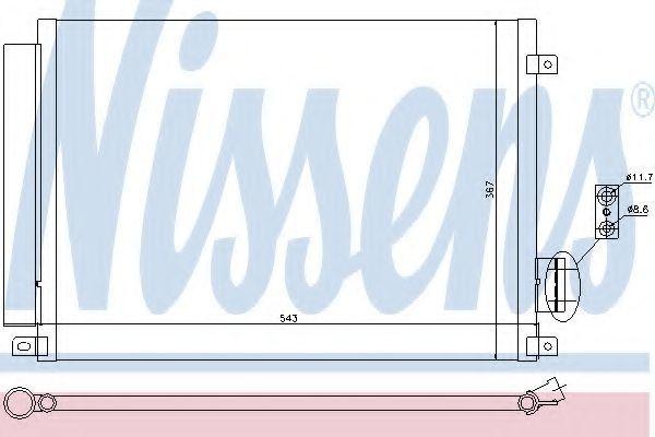 Радиатор кондиционера NISSENS 940028