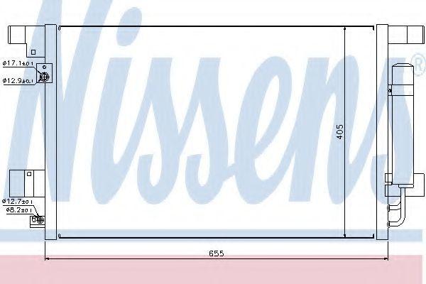 Радиатор кондиционера NISSENS 940029