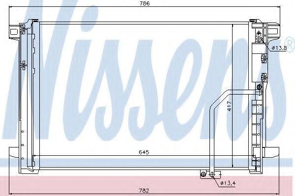 Радиатор кондиционера NISSENS 940035