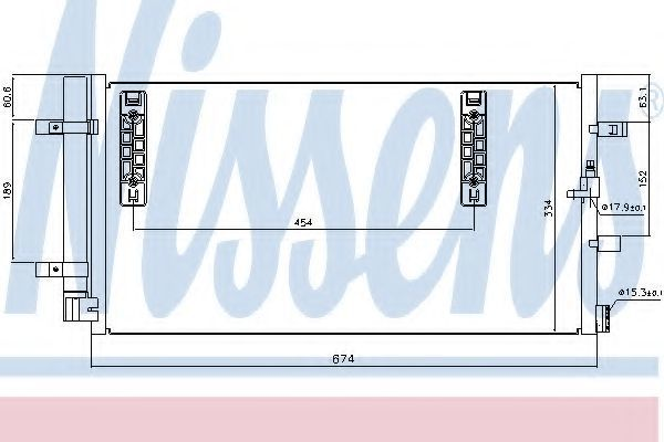 Радиатор кондиционера NISSENS 940042