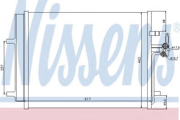 Радиатор кондиционера NISSENS 940043