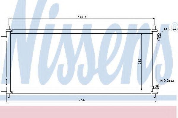 Радиатор кондиционера NISSENS 940051