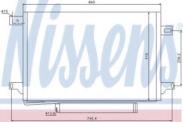 Радиатор кондиционера NISSENS 940054