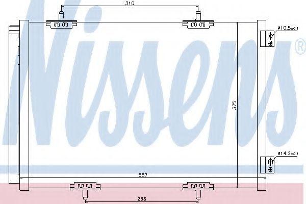 Радиатор кондиционера NISSENS 940055