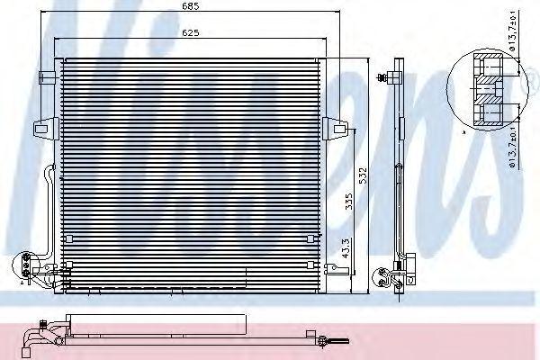 Радиатор кондиционера NISSENS 940066