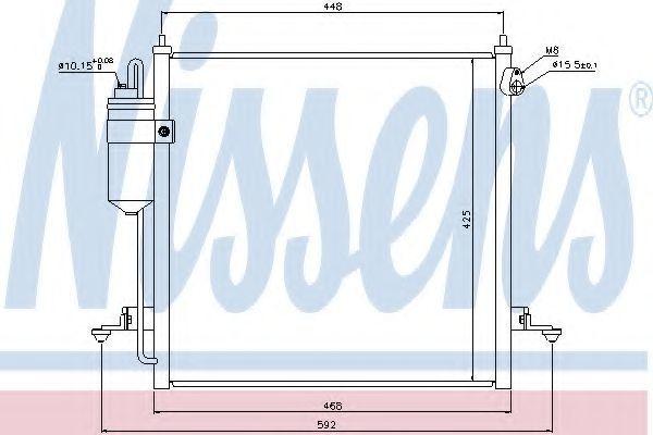 Радиатор кондиционера NISSENS 940068