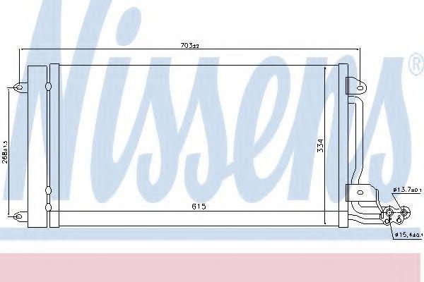 Радиатор кондиционера NISSENS 940093