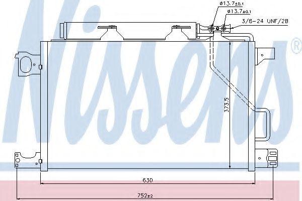 Радиатор кондиционера NISSENS 940100