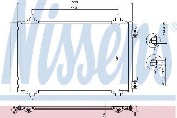 Радиатор кондиционера NISSENS 940111