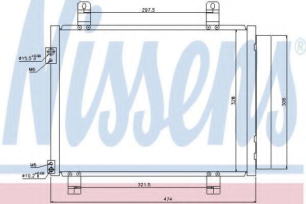 Радиатор кондиционера NISSENS 940122