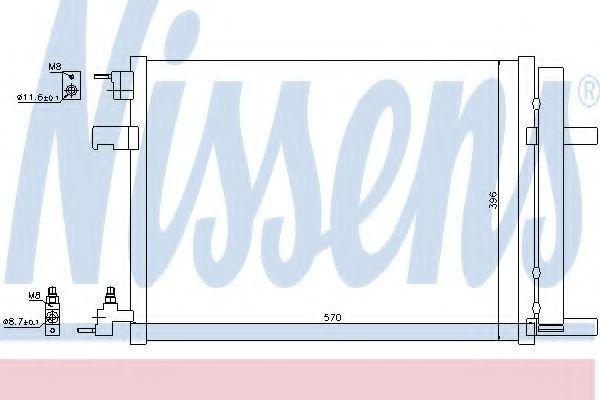 Радиатор кондиционера NISSENS 940134