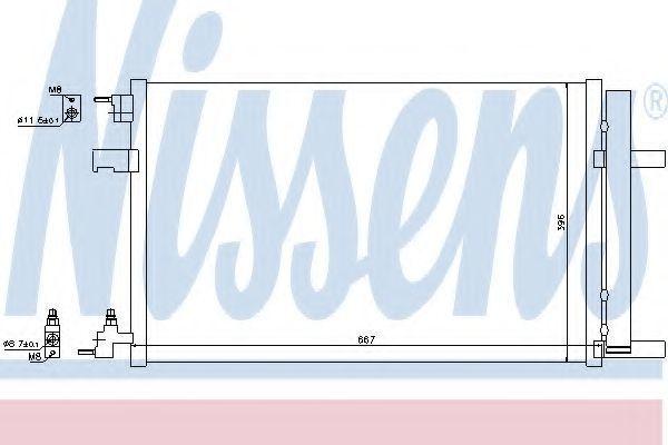 Радиатор кондиционера NISSENS 940135