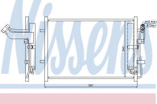 Радиатор кондиционера NISSENS 940148