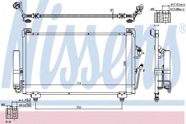Радиатор кондиционера NISSENS 940165