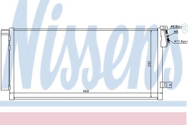 Конденсор кондиционера NISSENS 940169