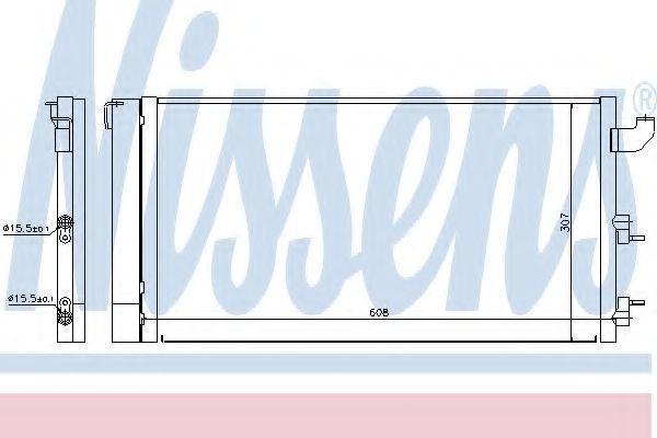 Радиатор кондиционера NISSENS 940173