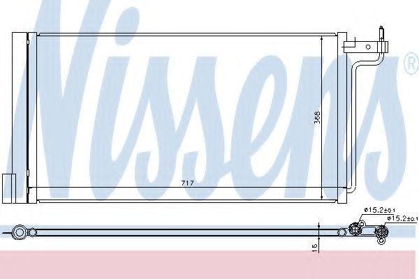 Радиатор кондиционера NISSENS 940181