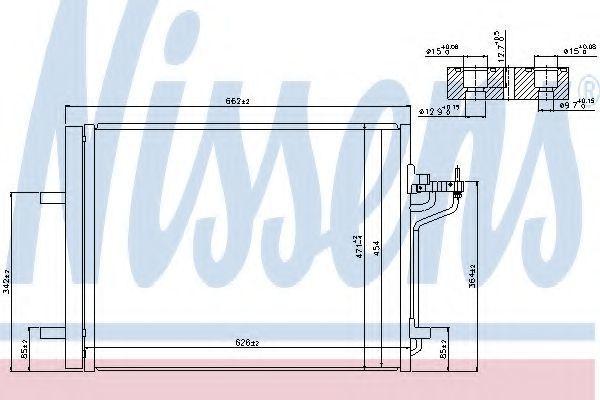 Радиатор кондиционера NISSENS 940183