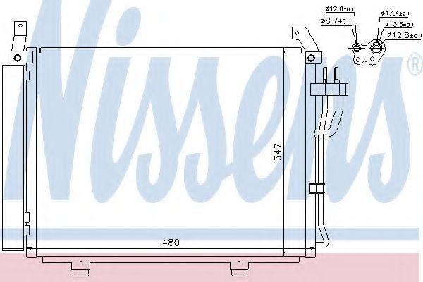 Радиатор кондиционера NISSENS 940205