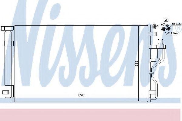 Радиатор кондиционера NISSENS 940208