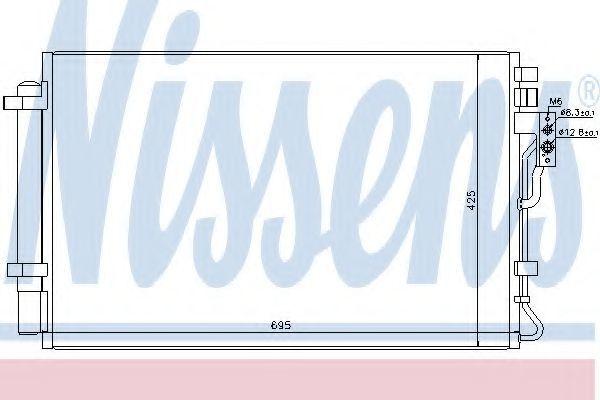 Радиатор кондиционера NISSENS 940216