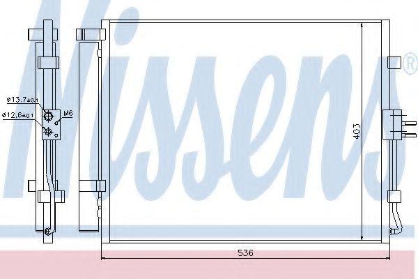 Радиатор кондиционера NISSENS 940217