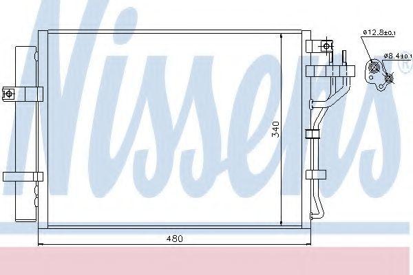 Радиатор кондиционера NISSENS 940219