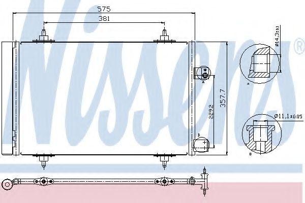 Радиатор кондиционера NISSENS 940239
