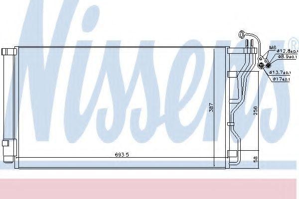 Радиатор кондиционера NISSENS 940244