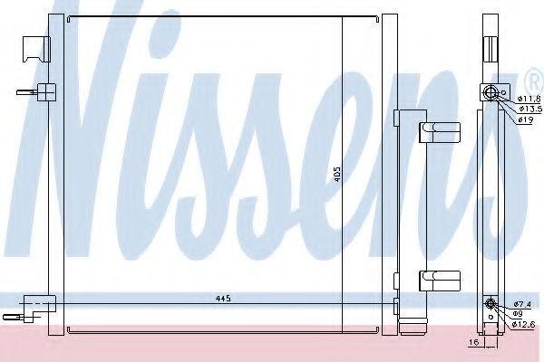 Радиатор кондиционера NISSENS 940247