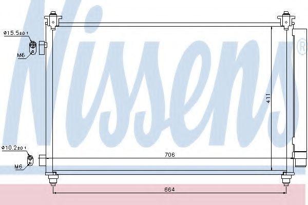 Радиатор кондиционера NISSENS 940253
