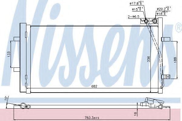 Радиатор кондиционера NISSENS 940255