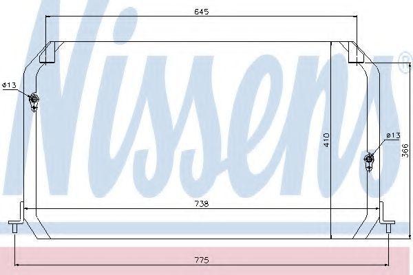 Радиатор кондиционера NISSENS 94026