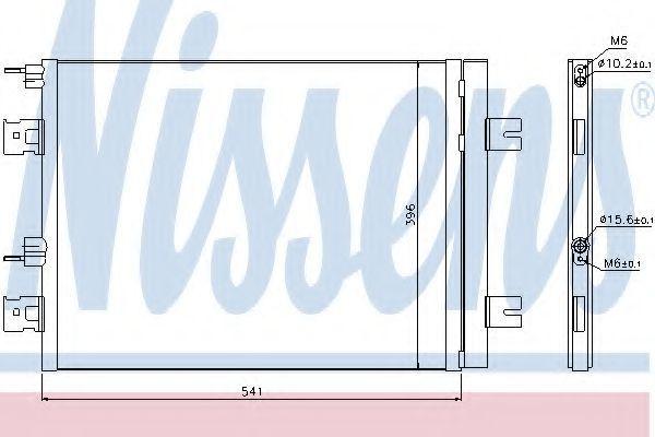 Радиатор кондиционера NISSENS 940262